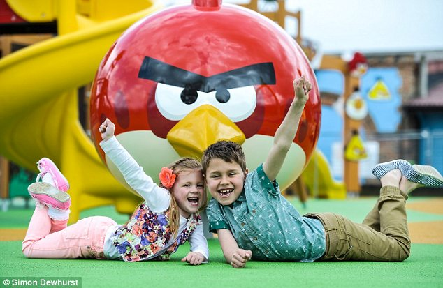 Children enjoying the Angry Birds Activity Park at Lightwater Valley