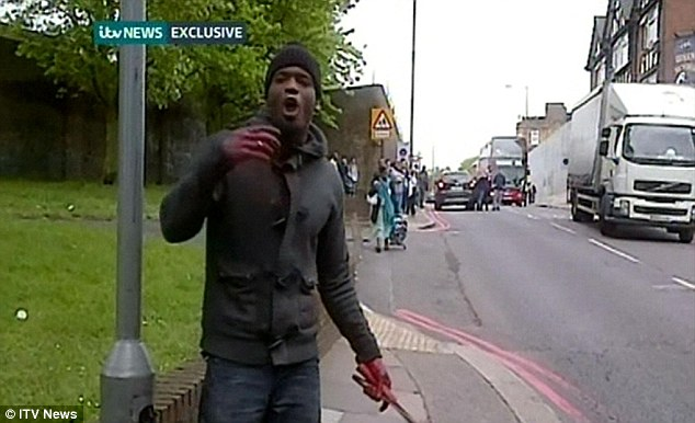 After the killing: Michael Adebolajo, 28, pictured on Wednesday, once served a jail sentence for violence