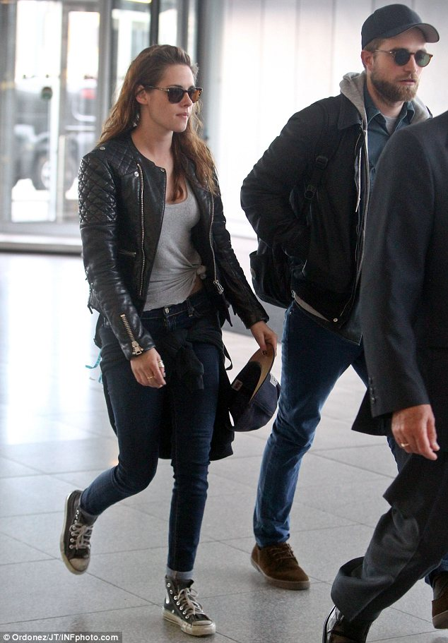 Checking in and then checking out: The former on-and-off screen lovers were last seen together on May 8 when they flew back to Los Angeles from New York City