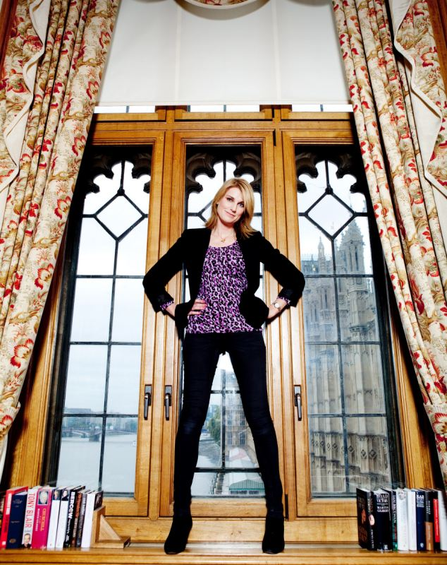 Publicity: Mrs Bercow has regularly courted controversy including posing in the window of Speaker's House