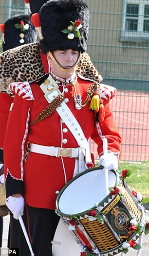 Career: Drummer Rigby, 25, known as 'Riggers', was known as a brave soldier