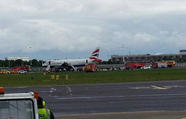The plane had been due to fly to Oslo and had been carrying 75 passengers, British Airways has said