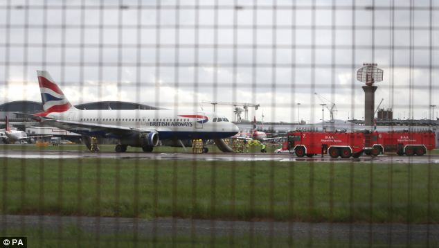 Passengers at Heathrow have been warned to expect delays of 30 to 60 minutes following the emergency landing
