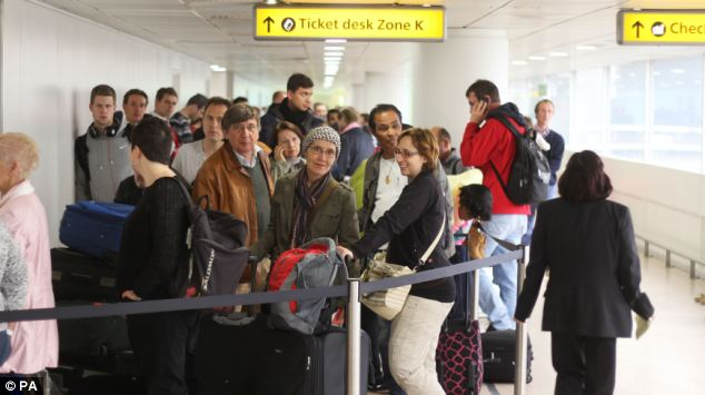 The airport was seeing delays of 38 minutes for departures and 23 minutes for arrivals, on average, following the emergency landing
