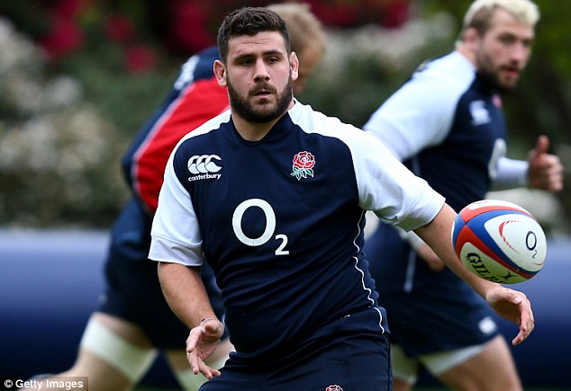 Leader: Rob Webber in training on Friday, will skipper Stuart Lancaster's England against the Barbarians