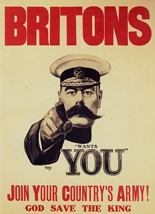 For King and country: Many young boys replied to Lord Kitchener's call for volunteers