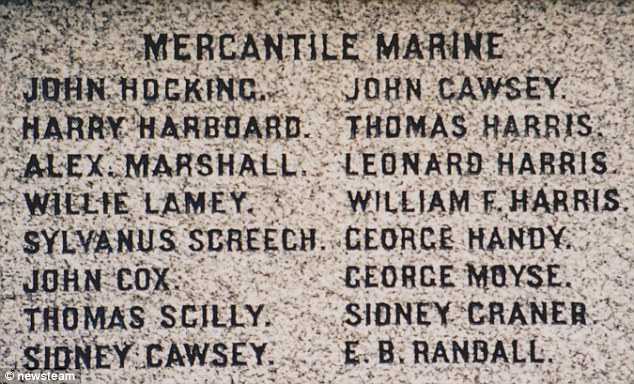 Sydney Cawsey and John Carter Cawsey are remembered on a war memorial. Sydney is one of the youngest victims of the conflict