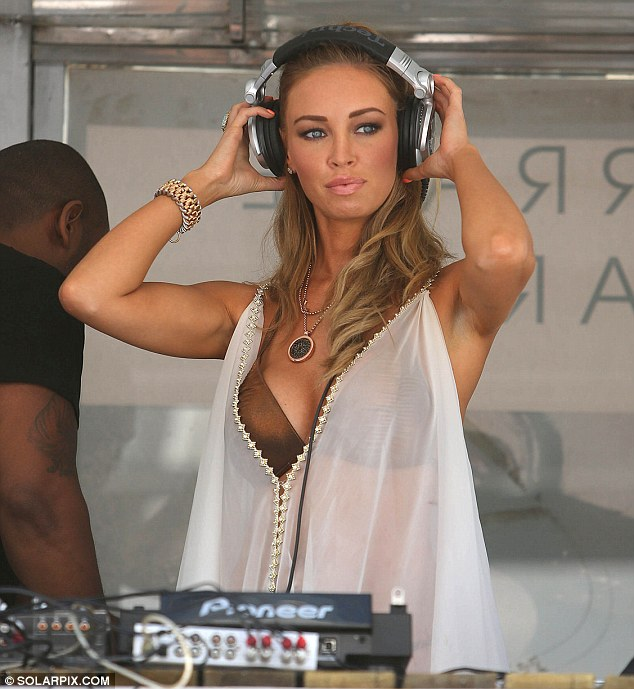 Hey Mrs DJ: TOWIE's Lauren Pope was also the Sisu pool party where she was in charge of music