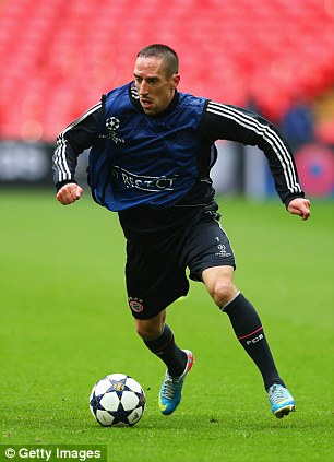 Footballing star: Ribery is one of the big names at Wembley this weekend