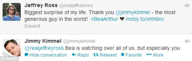Confirmation? Jimmy Kimmel seemingly declared that he had sent the painting to his friend and fellow comedian