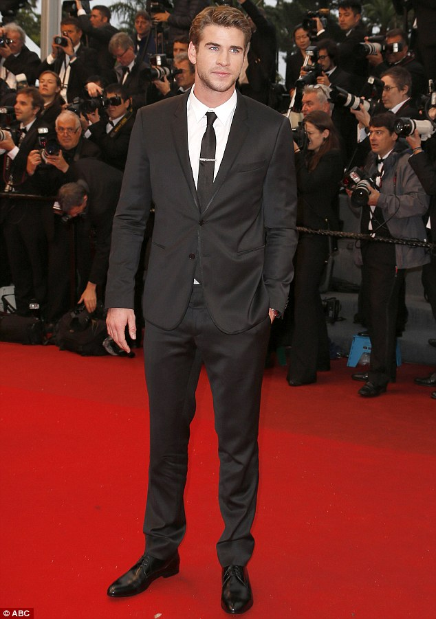 Busy bee: The Australian actor was recently promoting his latest film The Hunger Games: Catching Fire at the Cannes Film Festival