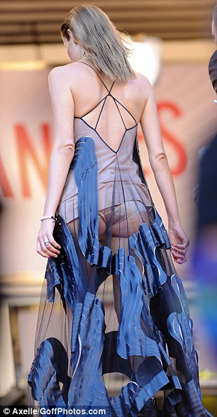 Shameless! Chilean model Carolina Parsons didn't seem to care her bottom was on show