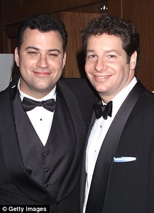 Back in the day: Jimmy Kimmel and Jeffrey Ross have been friends for many years, seen here in 2000