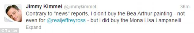 Denial: Kimmel claimed the whole thing was a joke