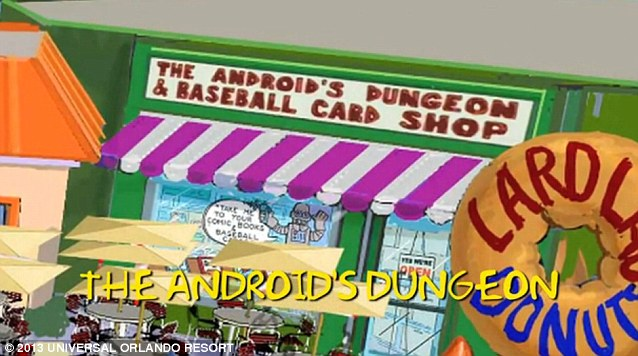 Springfield stores: The Android's Dungeon & Baseball Card Shop is a comic book store owned by Jeff Albertson a.k.a. Comic Book Guy