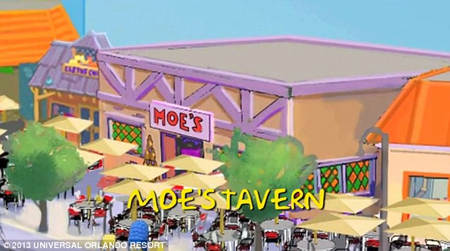 Anyone for a drink? Moe's Tavern is a the local bar in Springfield frequented by Homer Simpson, Carl Carlson, Lenny Leonard and Barney Gumble. The tavern is named after and run by Moe Szyslak.  The bar sells mostly Duff Beer