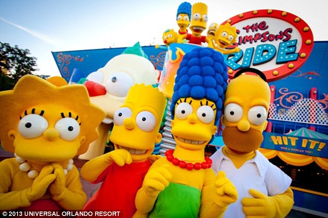 Up close and personal: Guests will be able to meet The Simpsons in person and experience Springfield first hand