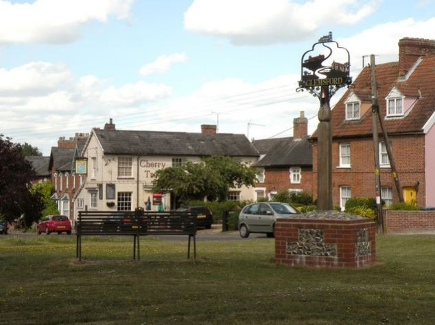 Picture perfect: The village of Glemsford, Suffolk, where the attack took place