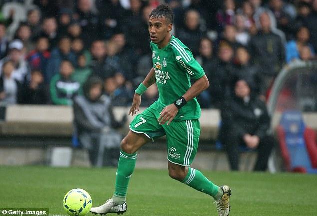 Swoop: Aubameyang scored 19 goals in Ligue 1 last season, while Kone impressed with Wigan