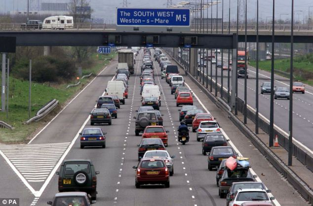Ms Aspland drove her Ford Ka north on the southbound carriageway of the M5 on Saturday