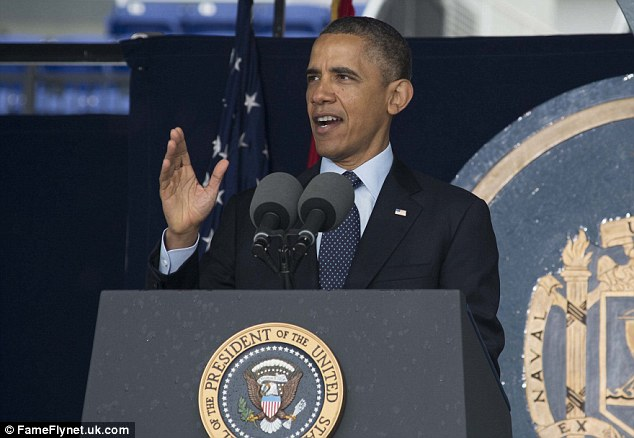 Force for good: President Obama calls on Naval Academy graduates in Maryland to help restore trust