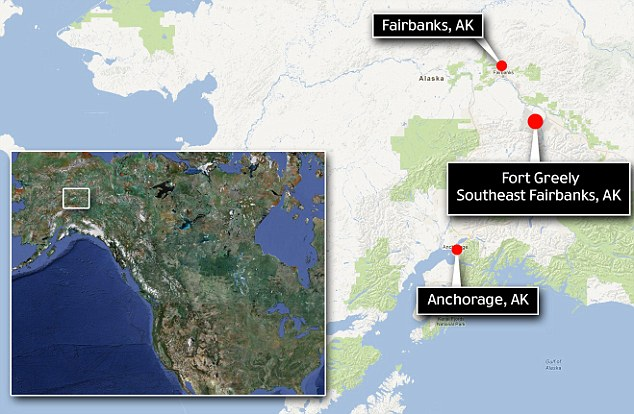 Remote: The Army's Fort Greely anti-ballistic missile base is located in the Alaskan wilderness