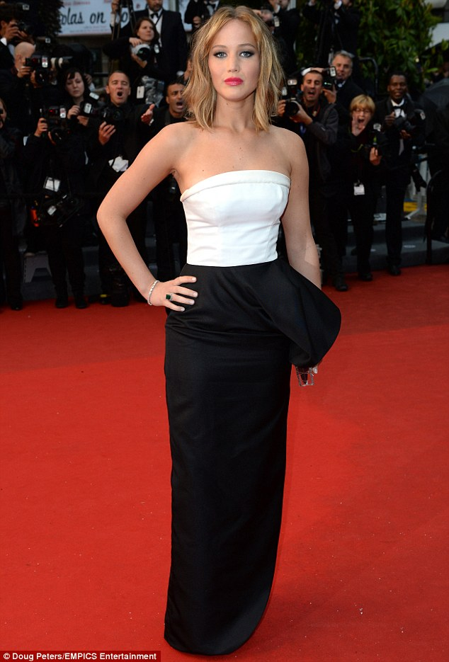 On the red carpet: Jennifer has been in Cannes for the city's 66th Festival De Cannes
