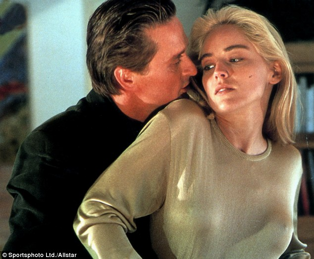 Back to basics: Sharon and Michael had sizzling on-screen chemistry in the Hollywood blockbuster from 1992