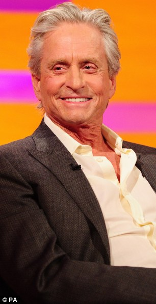 Michael Douglas during the filming of this week's Graham Norton show