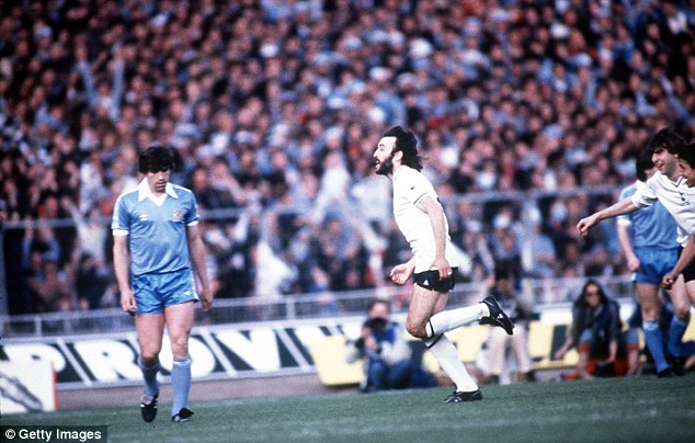A goal to remember: Blake was a Spurs fan when Ricky Villa scored his famous goal in the 1981 Cup Final