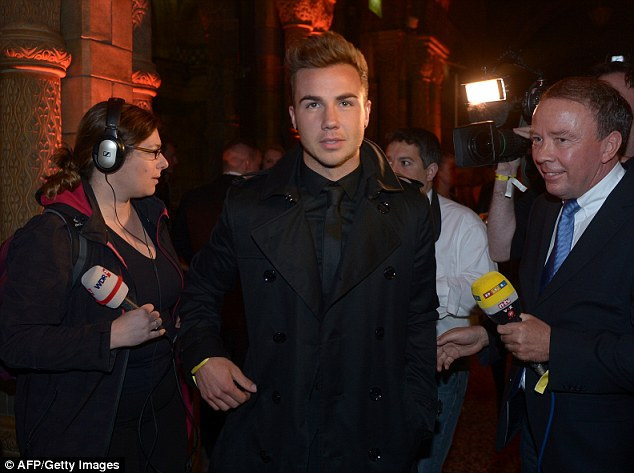 Star turn: Mario Gotze, who will join Bayern, was at the Dortmund party