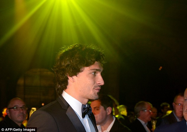 Unhappy: Mats Hummels was in black tie at the Dortmund bash