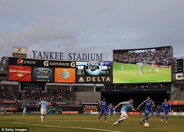 In action: Milner played against Chelsea at the Yankee Stadium in New York