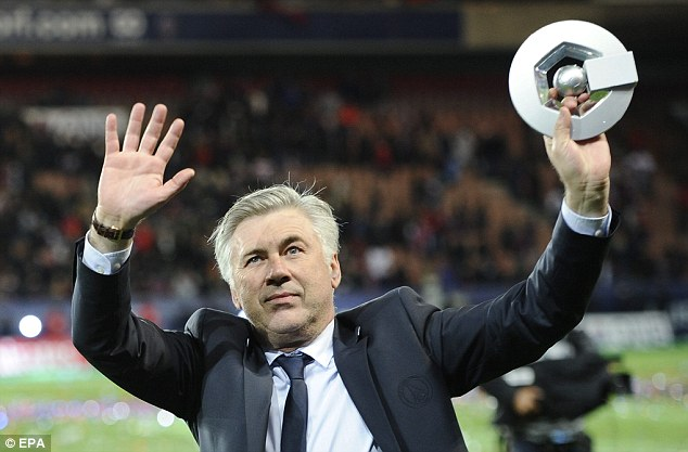 Exit: Carlo Ancelotti is set to replace Jose Mourinho as manager of Real Madrid after quitting PSG