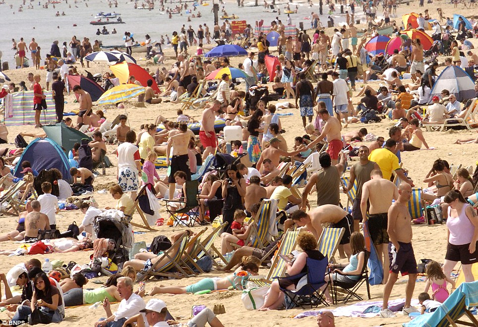 Bournemouth basks in the sun as the bank holiday sun seekers round off their weekend break