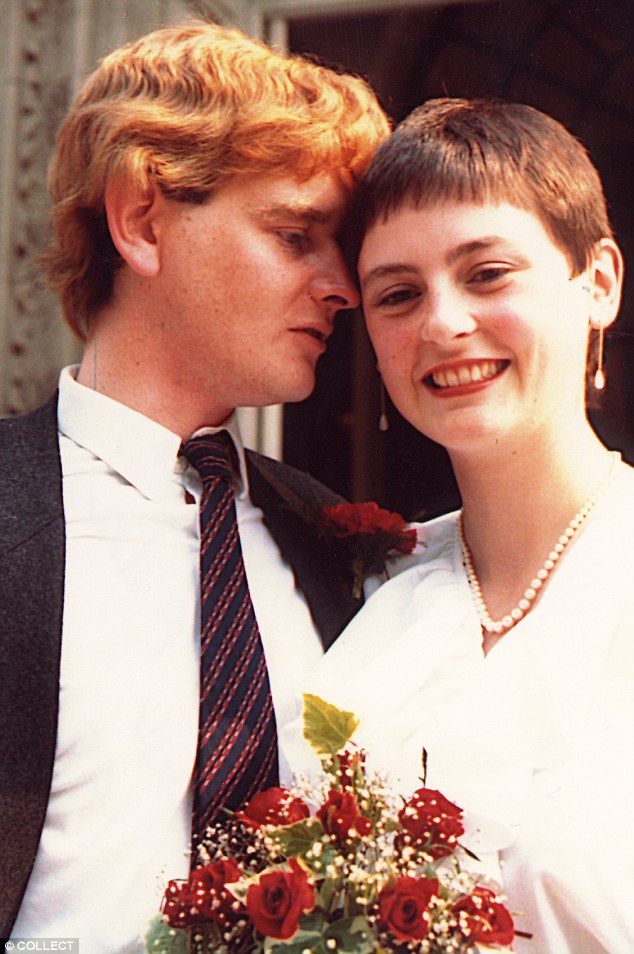 Lindsay Nicholson, editor of Good Housekeeping magazine, and investigative journalist John Merritt, on their wedding day