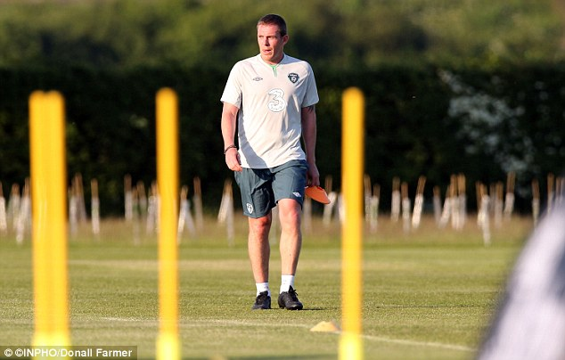 Return: Despite a year without playing, Richard Dunne could play a part in the friendly with England after training with the Irish squad