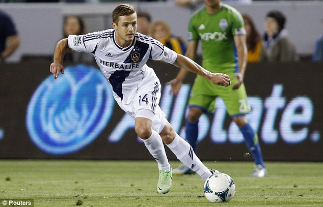Comeback: Within a few months he was recruited by David Beckham's former team, LA Galaxy, which took him back to his family in the U.S.