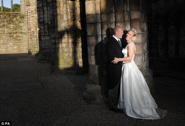 Nuptials: The couple married at Holyrood Abbey in Edinburgh in 2011