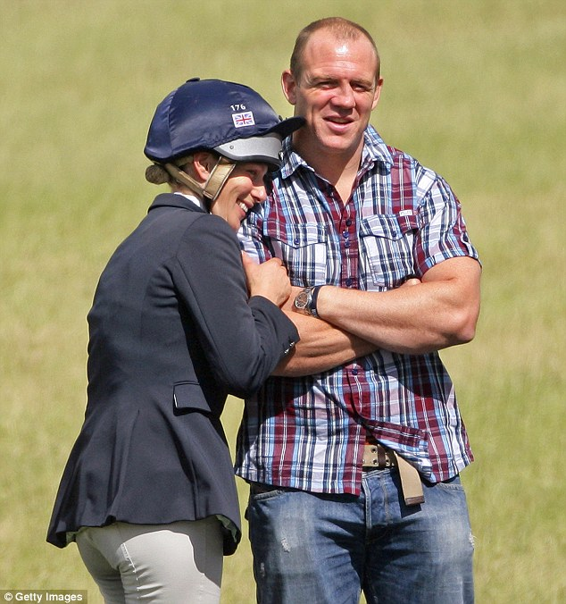 Zara Phillips and Mike Tindall enjoy some rare time together as she competes at the Banbury Horse Trials last year