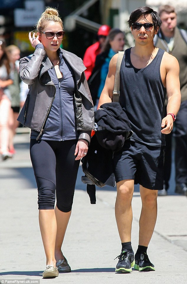 Honeymooning: The pair have stayed close to their home in the Big Apple in the week since their wedding