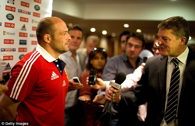 Late call: Rory Best was delighted to get the call and join up with the squad