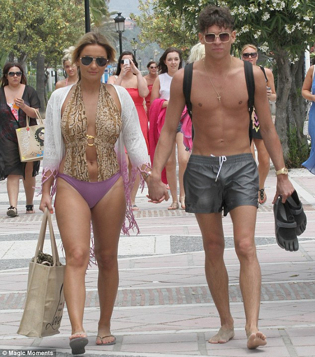 Barbie and Ken: Sam later joined boyfriend Joey Essex who was pursued by a legion of female fans