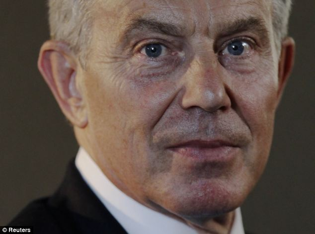 Kerry has been working with former British Prime Minister Tony Blair (pictured) and global business leaders to devise economic plans