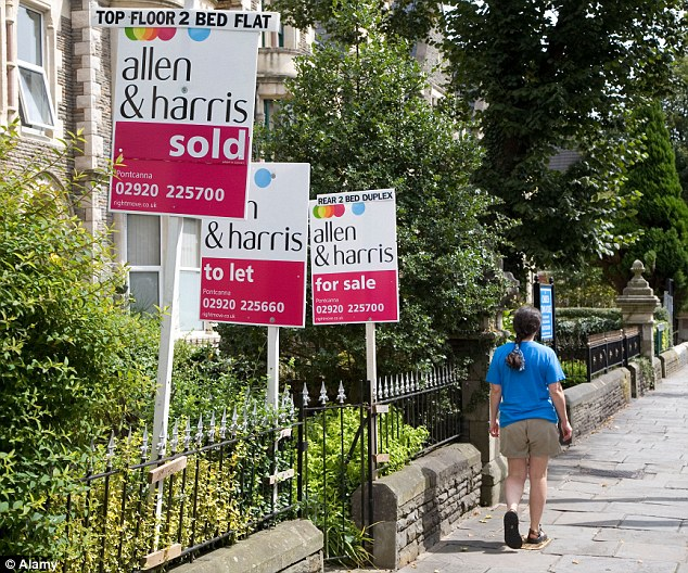 Movement: Prices edged up month-on-month by 0.3 per cent in East Anglia, 0.2 per cent in the South West and 0.1 per cent in the Midlands. They were flat in the North East, the North West, Yorkshire and Wales