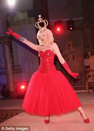 Regal: Katrina Darling performs a striptease at the after show party at the 2013 Life Ball in Vienna, Austria
