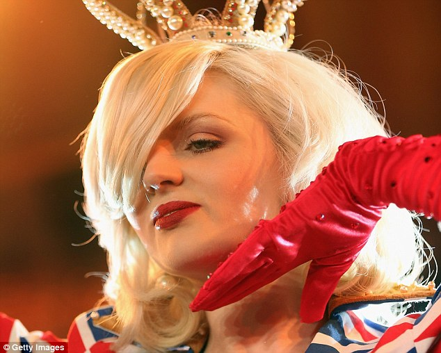 Darling has previously drawn attention to her Royal link by doing a burlesque song and dance routine to God Save the Queen during the monarch's diamond jubilee