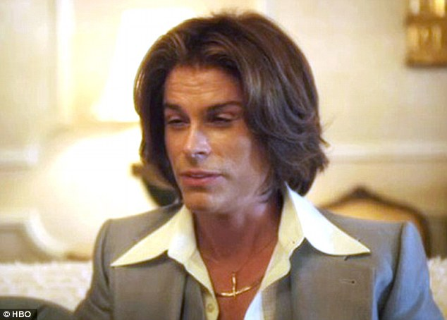 Inspired: Rob Lowe delivers an equally masterful turn as Liberace's plastic surgeon, Dr. Jack Startz, but admits the process was 'painful'
