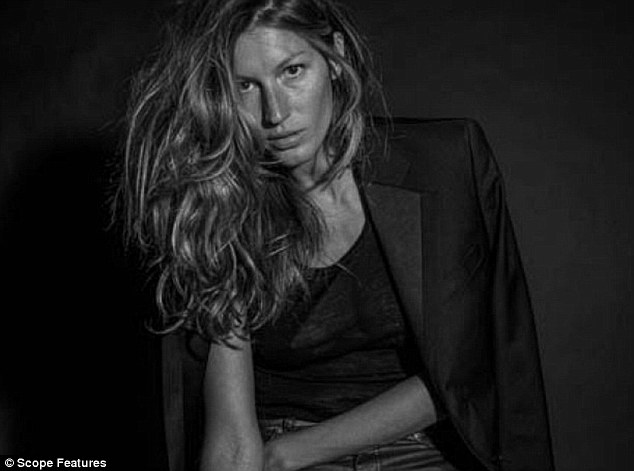 Model behaviour: Gisele Bundchen is using her status as one of the most powerful women in the world to speak out against photoshopping in the fashion industry by wearing no makeup in a new campaign