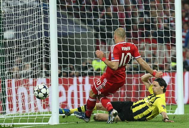 Drama: Dortmund's Neven Subotic clears the ball off the line
